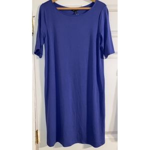 Eileen Fisher Dresses - Eileen Fisher blue jersey dress